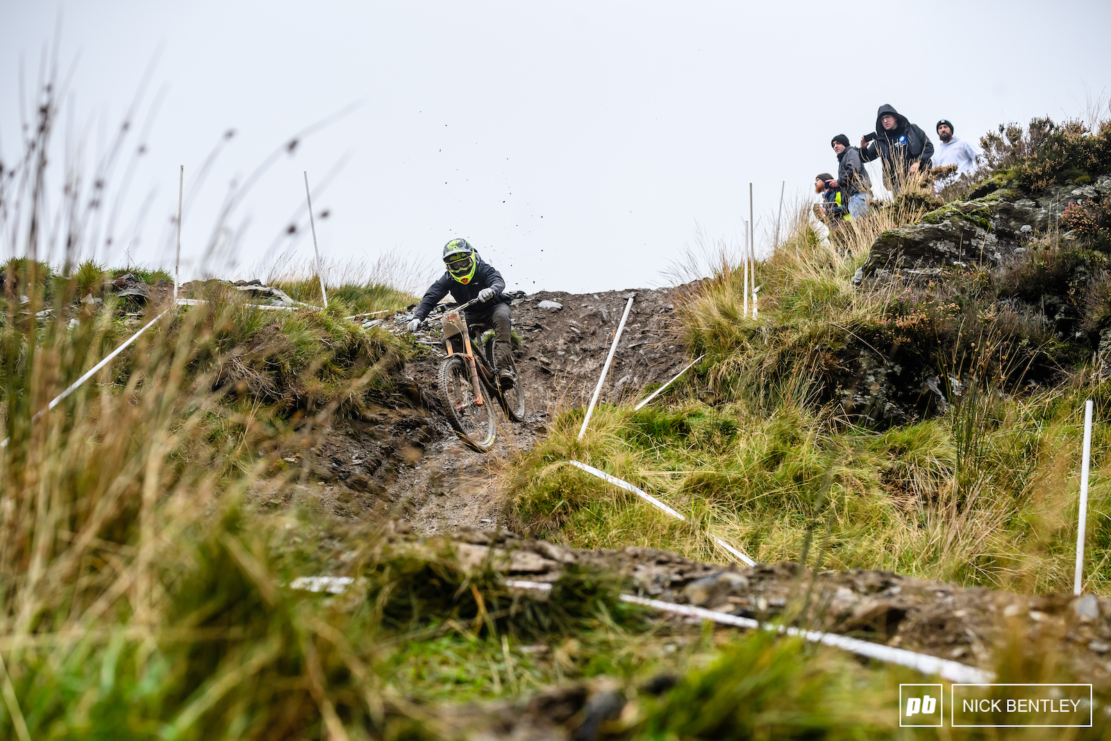 Ad Brayton making the steep chute that most mere mortals found treacherous look easy