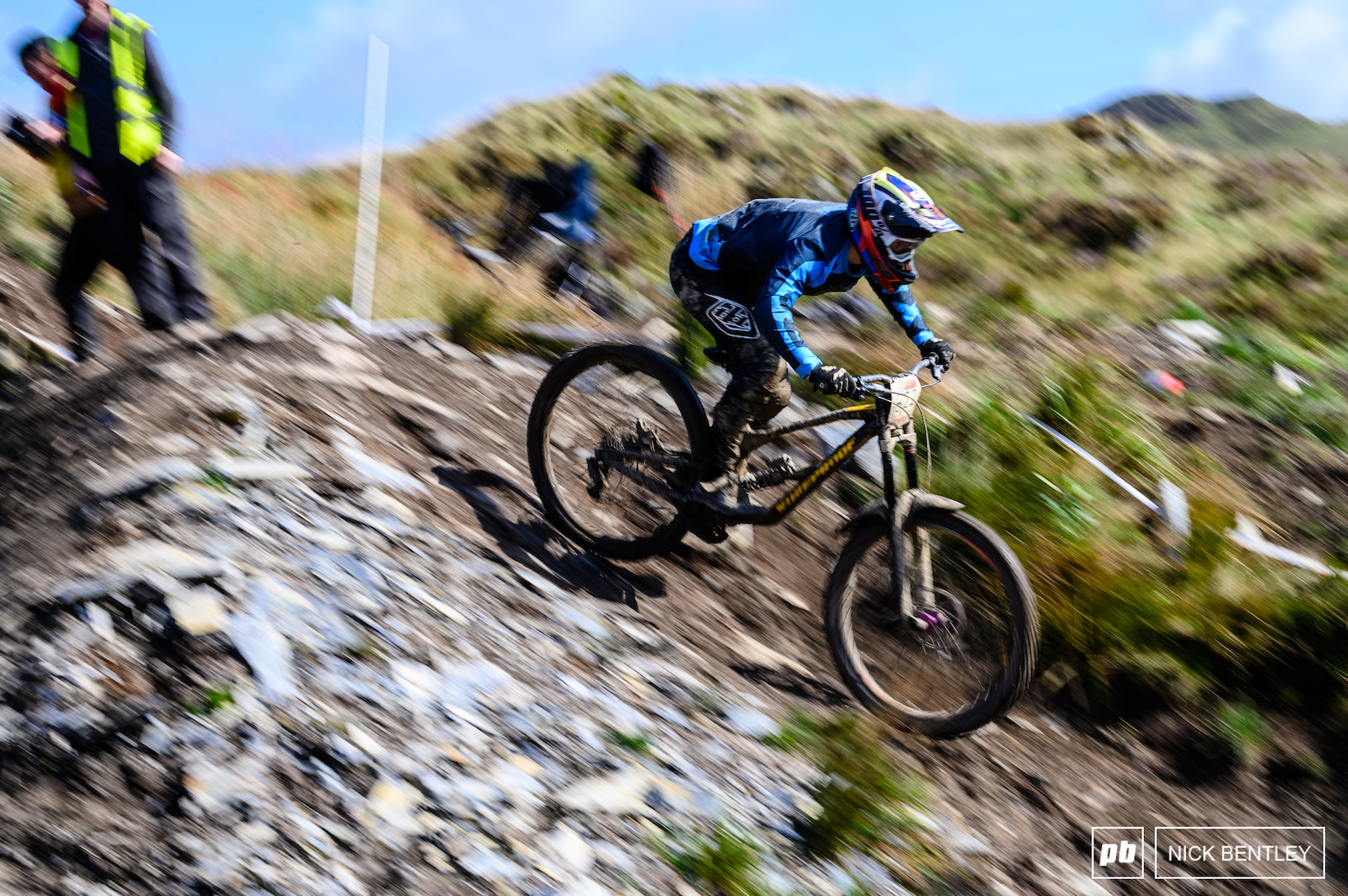 The steep chute midway down the track seemed a little bit more tame in the dry