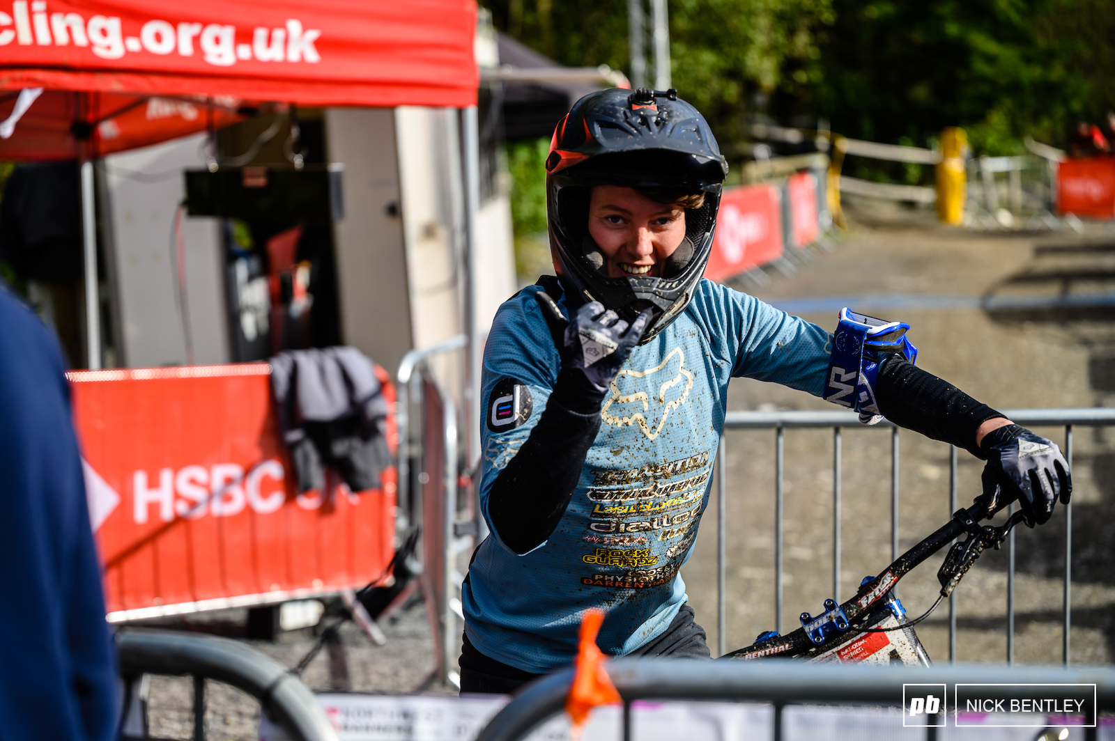 Stacey Fisher was stoked with her race run