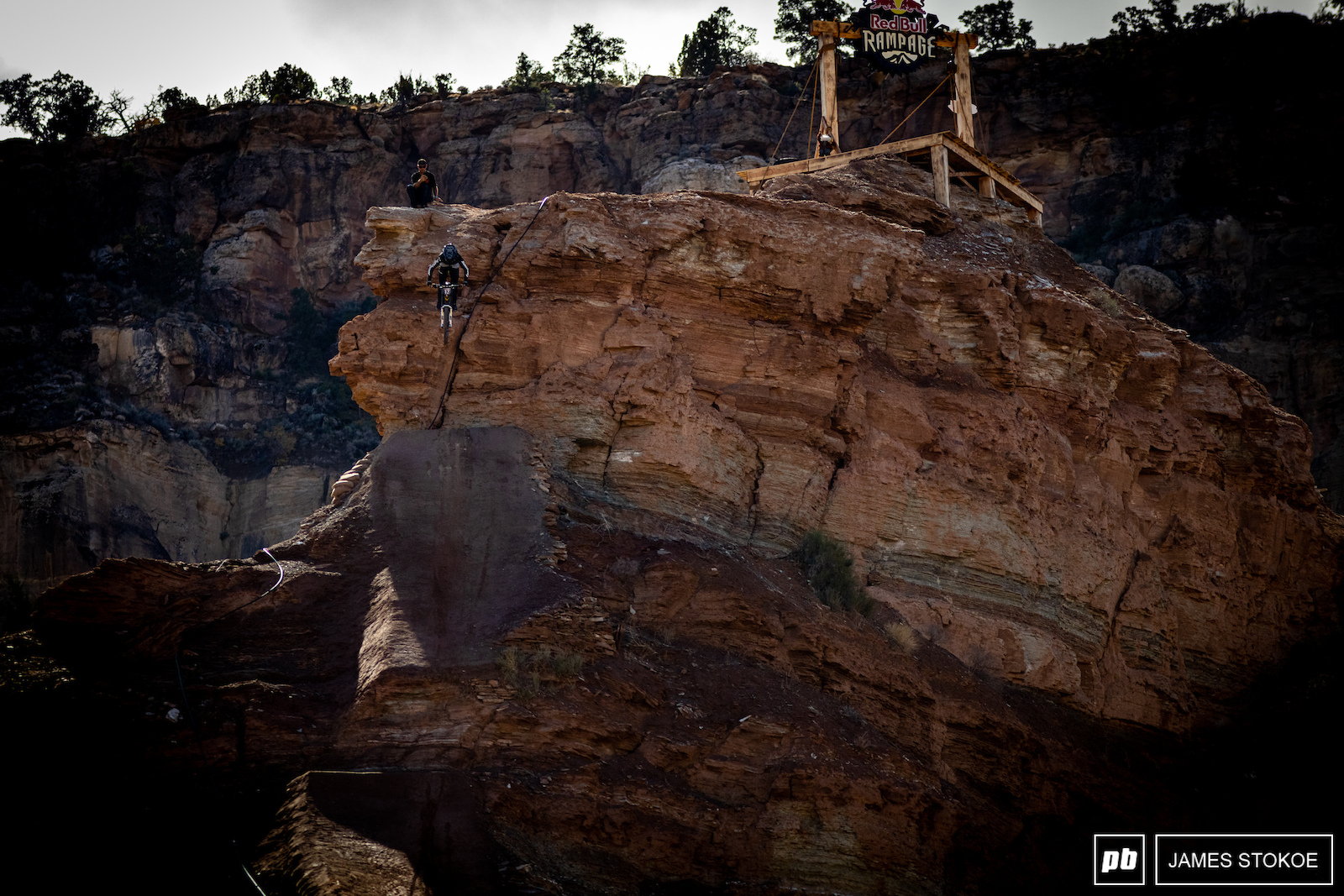 Tyler McCaul piecing together his line from the very top.