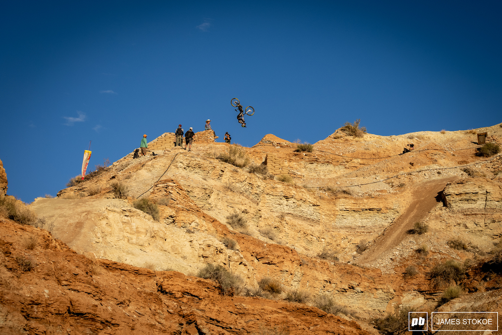 Cam Zink flipping his double on the ridge line.