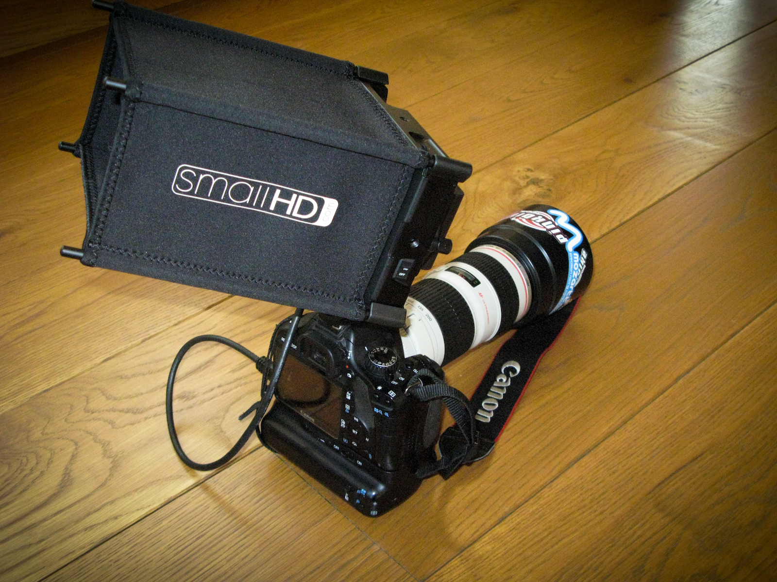 my camera setup, ready for the weekend.