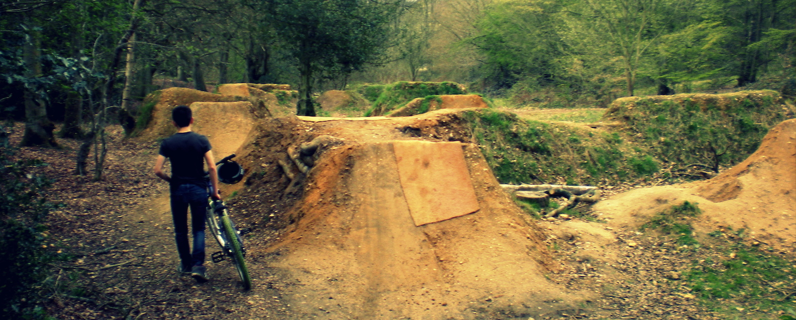 The local trails and where a kid learns to ride a bike.