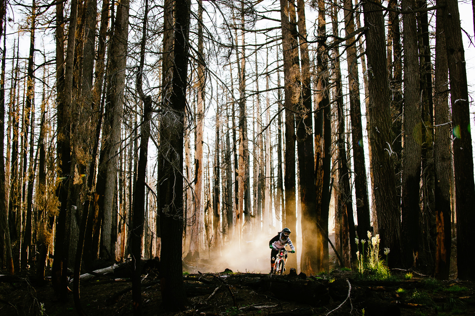 An old trail filled with moondust gave us some pretty amazing riding and shooting conditions.