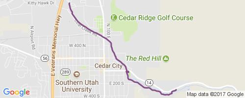 Coal Creek Mountain Biking Trail - Cedar City, UT on google maps taylorsville utah, google maps st. george utah, map of cedar mountain utah, google maps eden utah, google maps hurricane utah, google maps saint george utah, southern utah, google map of utah, google maps tooele utah, google maps midvale utah,