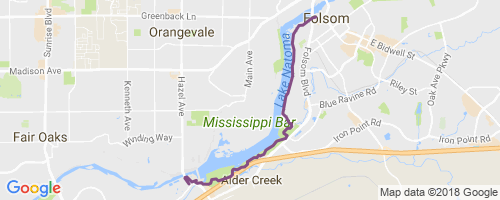 map of clinton river michigan, map of truckee river bike trail, map of oleta state park, map of sacramento neighborhoods, map of san gabriel river bike trail, on map of american river bike trail