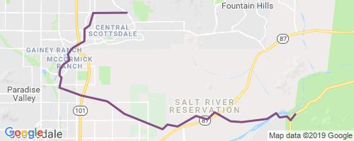 Maricopa Trail Gateway - Granite Reef Mountain Biking Trail