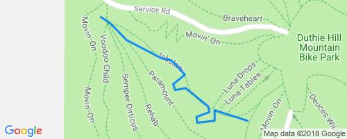 2 Hi / Jabulani Mountain Biking Trail - Issaquah, WA Duthie Hill Map on