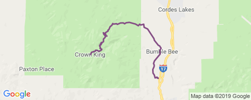 Map Of Crown King Arizona.Crown King Rd Mountain Biking Trail Black Canyon Az
