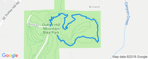 Step It Up Mountain Biking Trail - Issaquah, Washington Duthie Hill Map on