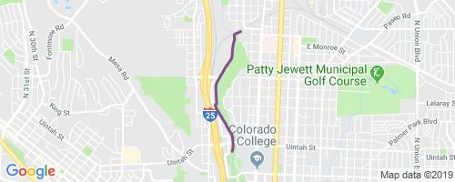 Pikes Peak Greenway (West) Mountain Biking Trail - Colorado ...
