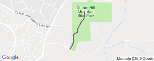 Duthie Access Road to Clearing Mountain Biking Trail - Issaquah on campbell hill map, mountain bike trail map, johnson hill map, banner forest map, adams hill map, baker hill map, king hill map,