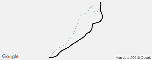 a rockwork orange mountain biking trail