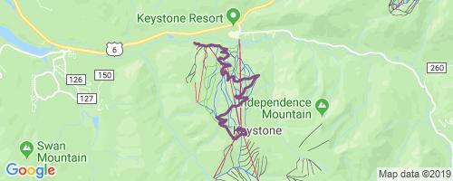 Jackstraw Road Mountain Biking Trail - Keystone, Colorado