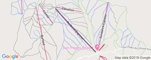 Sunburst Chairlift Mountain Biking Trail - Sun Peaks