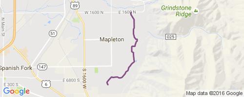 Mapleton Lateral Canal Mountain Biking Trail Springville Ut